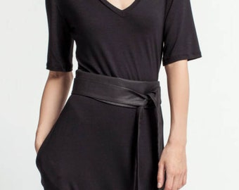 Designer Wrap Obi Belt, Waist Belt, Dress Belt, Wrap Belt, Black Sash Belt, Women's Wide Belt, Valora Belt, Marcella - MA0057