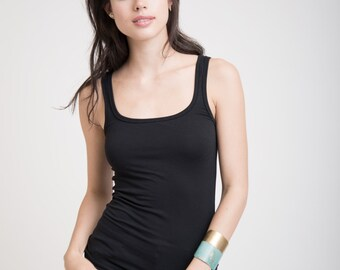 c69cfa18023d Tank Top Black, Summer Top, Fitted Top, Sexy Tank Top, Tank Top Women,  Black Tank, Women's Tank Top, Women Tank Top, Black Tank Top, MB0194