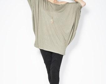 Oversized Tunic / Casual Blouse / Top Tunic / Off Shoulder Top / Asymmetric Tunic / Fashion Shirt / Marcellamoda - MB0007