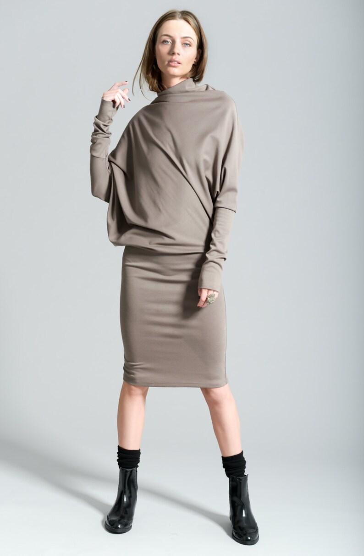 cefd73668f24 Casual Dress   Winter Dress   Day Dress   Knit Dress   Black