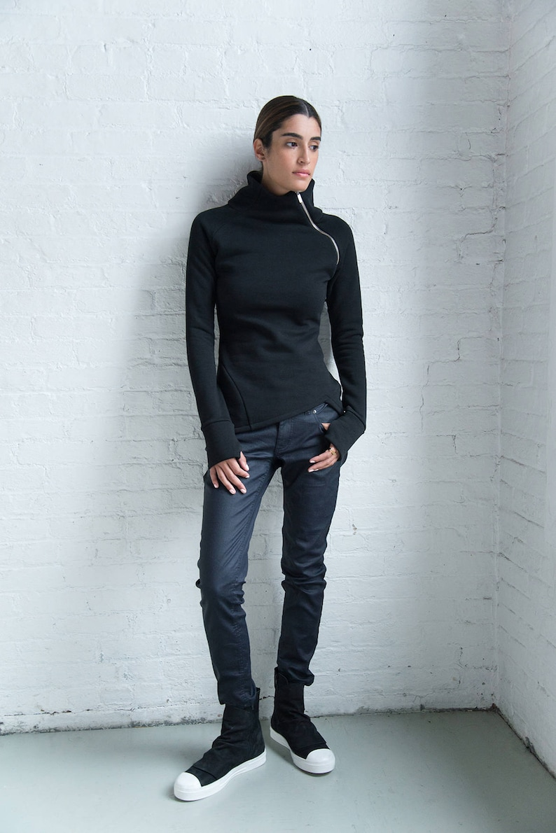 Designer Blue Jeans Coated Denim Skinny Jeans Long Dark Blue 10-J