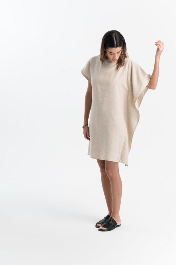 111a641ce7 Linen Tunic Dress   Mini Dress   Bat Sleeves Tunic   Loose
