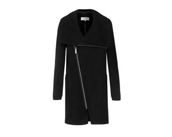 Winter Coat, Trench Coat, Wool Jacket, High Collar Jacket, High Collar Coat, Wide Collar Coat, Heidi Wool Coat, Marcellamoda MC0786