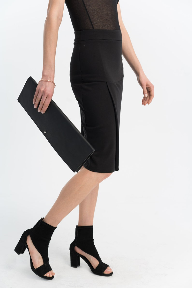 MISS N MAM New Ladies Womens Ponte Cut About Panelled Midi Skirt Casual Work Formal Plus Sizes 12-22