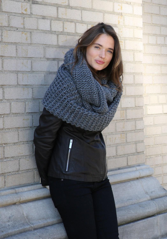 Infinity Scarf   Chunky Knit Scarf   Winter Shawl   Loop Scarf  540db8e6312f