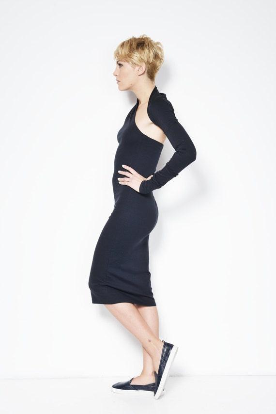 Dress One Midi Dress Dress MD0003 Pencil Shoulder Cocktail Marcellamoda Black Dress Dress Length Evening zRWdISqq