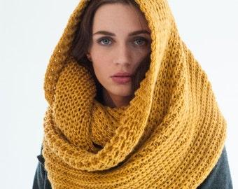 Infinity Scarf / Chunky Knit Scarf / Winter Shawl / Loop Scarf / Long Winter Scarf / Soft Wool Scarf / Marcellamoda k - MA0402