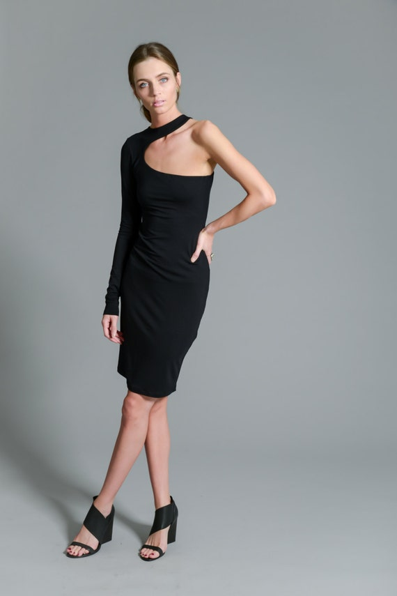 Dress One Dress Gown Little Black MD0088 Dress Cocktail One Dress Sleeve Shoulder Party Marcellamoda Dress Evening UAIP4q