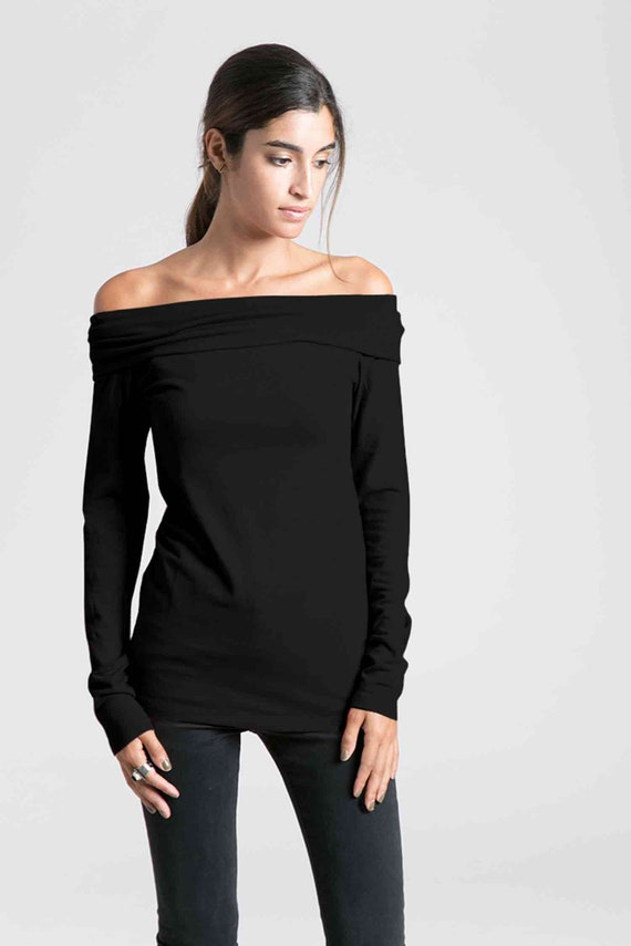 Black Off Shoulder Blouse