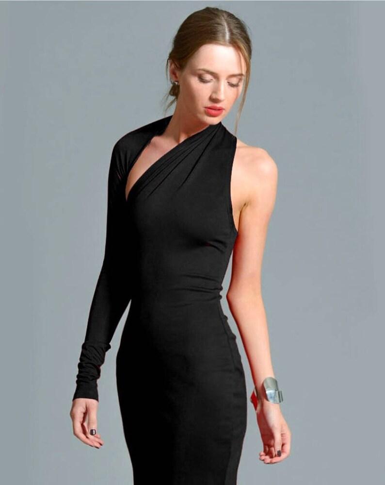 e03dd844e98 Little Black Dress / One Shoulder Dress / Black Dress / Prom | Etsy