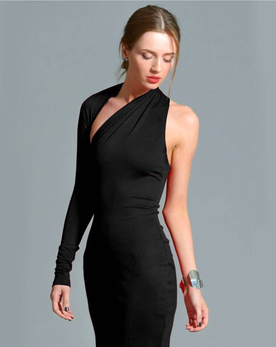 220d50f56e7 Little Black Dress   One Shoulder Dress   Black Dress   Prom