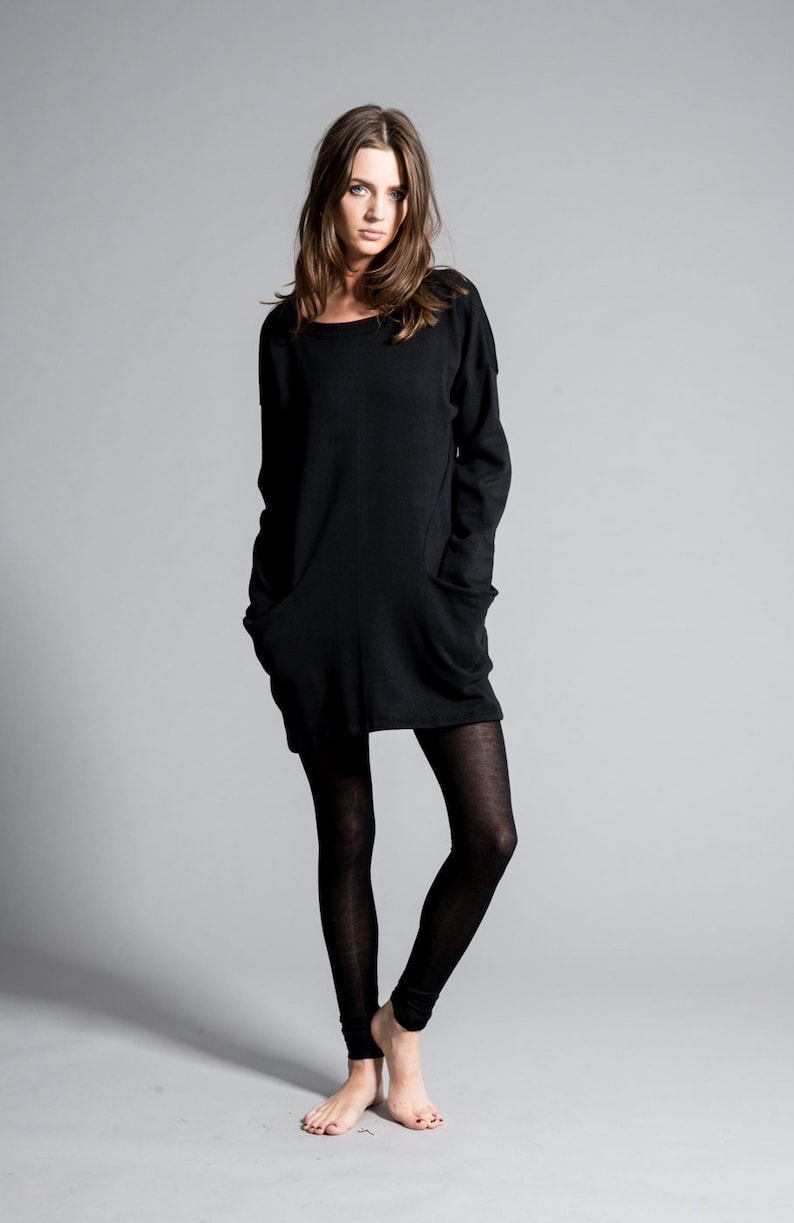 335f4f0f7ea Oversize Sweatshirt Tunic   Sweatshirt Tunic Dress   Black
