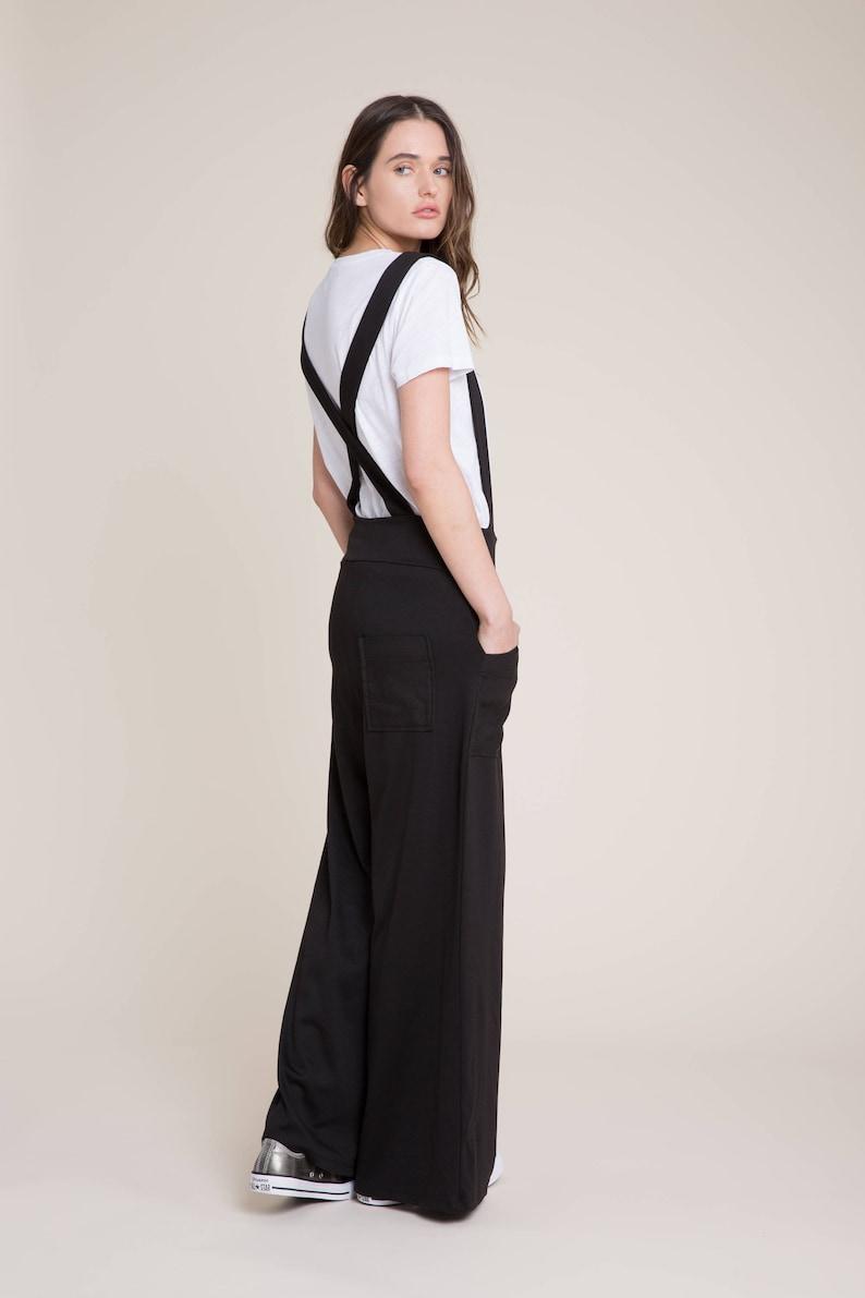 7b7b6d810db Black Suspender Pants   Long Jumpsuit   Sleeveless Jumpsuit