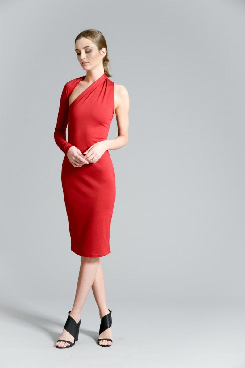 89c9a55fbd2 Red Dress   Pencil Dress   Party Dress   Midi Dress   One