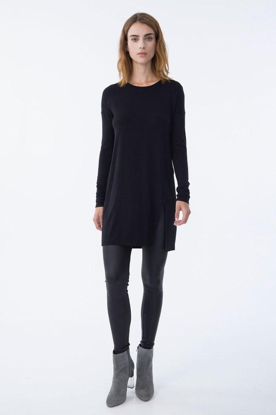 cad089f963db15 Loose Jersey Tunic   Black ...