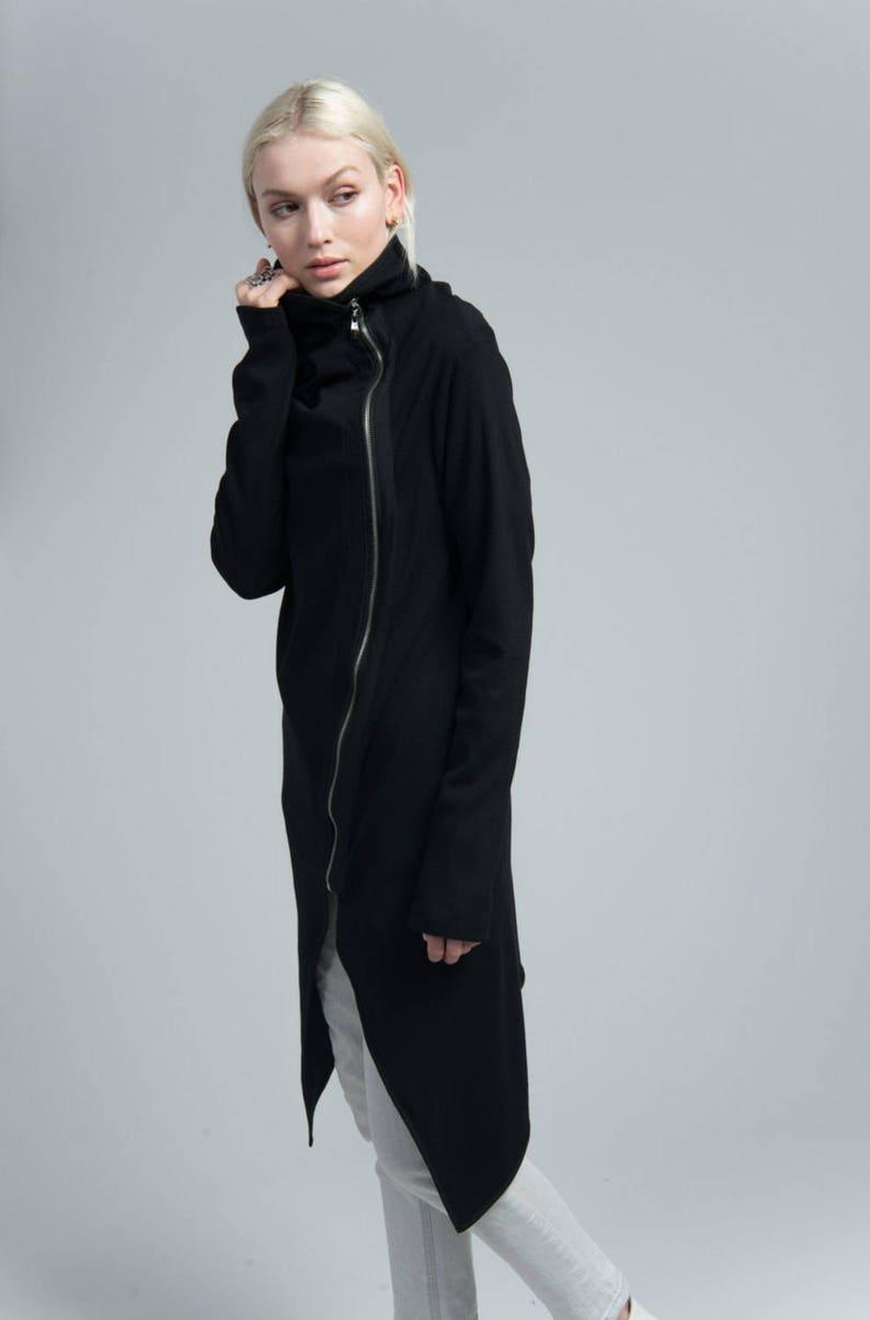 f41460ff242b Spring Jacket   Asymmetric Jacket   Black Blazer   Long Jacket