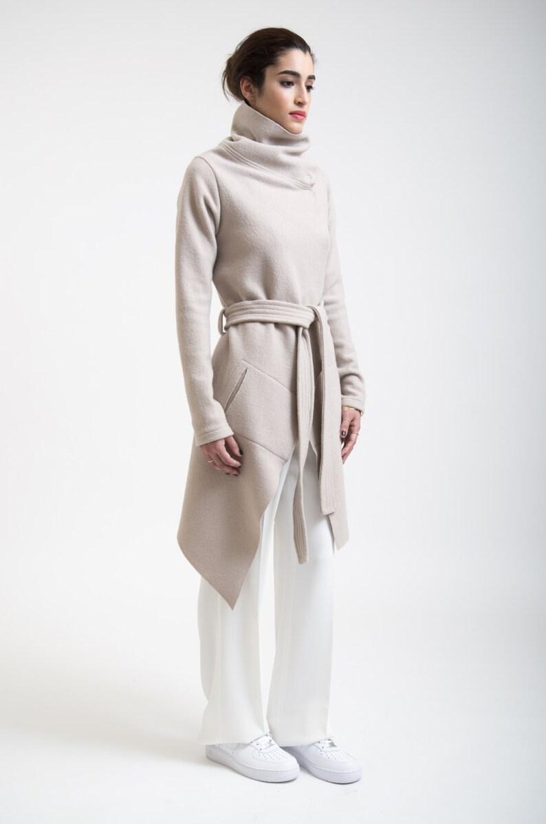 0e2aefca8a59 Stylish Jacket   High Collar Sweater Jacket   Asymmetrical