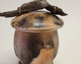 Horsehair Pottery Urn, Pet Urn, Horsehair Pottery, Canister, Jar, Lidded Container