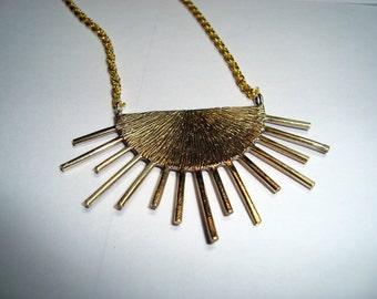 Sun  Necklace, Sun Jewelry,  Sun Pendant, Sun Pendant Necklace,  Sun Necklace for Men, Bronze chain Necklace, Hand Cast Sun Necklace