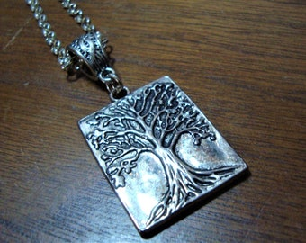 SALE:  Sterling Silver Tree of Life Pendant with Chain