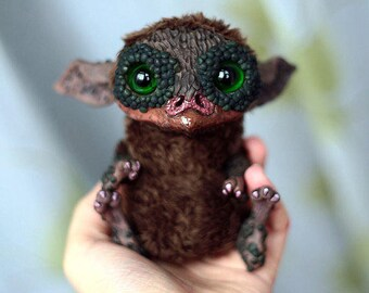 Art doll by Chercheto Sculpture Figurine Monster Super Sculpey Animal Creature Fur Original Artist Dolls