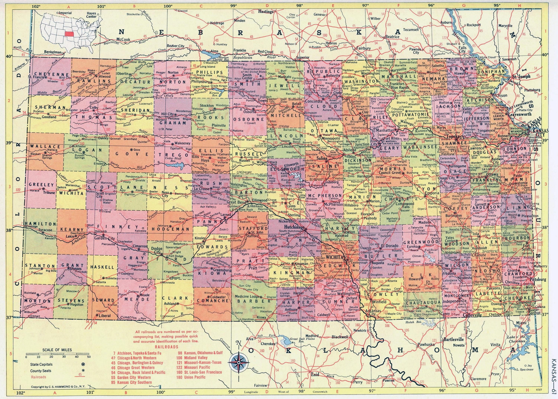 Old Kansas Map.1956 Kansas Map Beautiful Old Map Of Kansas Vintage Map Etsy