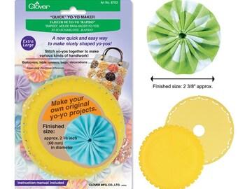 makes 1.25 yo-yos Bundle of Two 2 and Large Quick Yo-Yo Makers: Small makes 1.75 yo-yos
