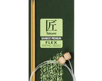 Clover 20 Inch Size 10.5 Takumi Bamboo Knitting Needles FLEX Part No. 3017-10.5 DISCONTINUED