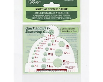 Clover Knitting Needle Gauge Part No. 3147