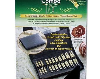 Clover Takumi Combo Knitting Needles Set Part No. 3683