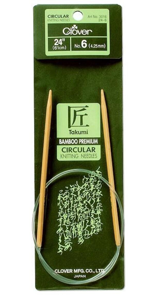 Clover 3016//24-8 Takumi Bamboo Circular 24-Inch Knitting Needles Size 8