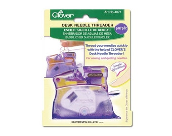 Clover Desk Needle Threader Color: PURPLE Part No. 4071