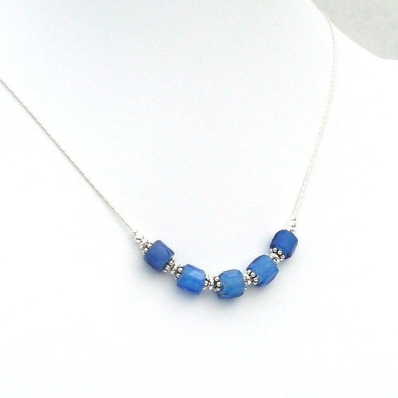Antique Faceted Russian Blue Trade Bead Necklace 1800 S Etsy