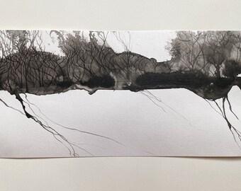 Rills in Winter | Original Painting on paper