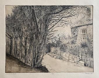 Along a Path   Intaglio etching print