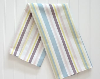 Striped Tea Towel, Tea Towel, Home Decor Tea Towel