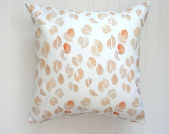 NEW! Light Biege and White Abstract Pods Pillow Cover, Designer Fabric Pillow Cover, 18x18, 20x20, 22x22, 24x24, 14x20, 12x21
