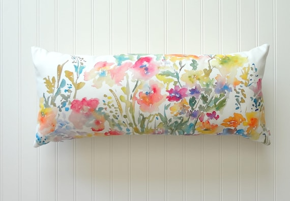 Abstract Floral Flow Pillow Cover