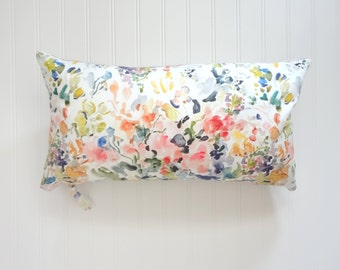 NEW! Abstract Floral Flow Pillow Cover, Watercolor Floral Pillow Cover, Watercolor Floral Home Decor