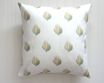NEW! Abstract Plant Pillow Cover, Designer Fabric Pillow Cover, 18x18, 20x20, 22x22, 24x24, 14x20, 12x21
