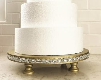 3c7a53c6339b Wedding Cake Stand with Rhinestone Applique - 14 16 18 inch Cake Stand -  Any Color - Rose Gold Wedding Cake Stand -Rhinestone Cake Stand