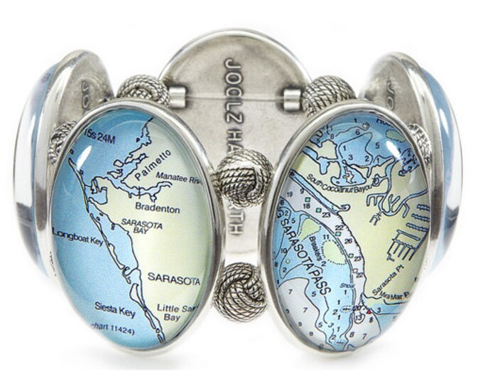 Sarasota Map Joolz Hayworth Stretch Bracelet