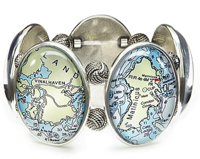 Maine Islands Map Stretch Bracelet From Joolz Hayworth