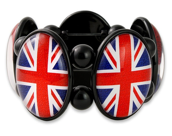 Union Jack Bracelet in Black