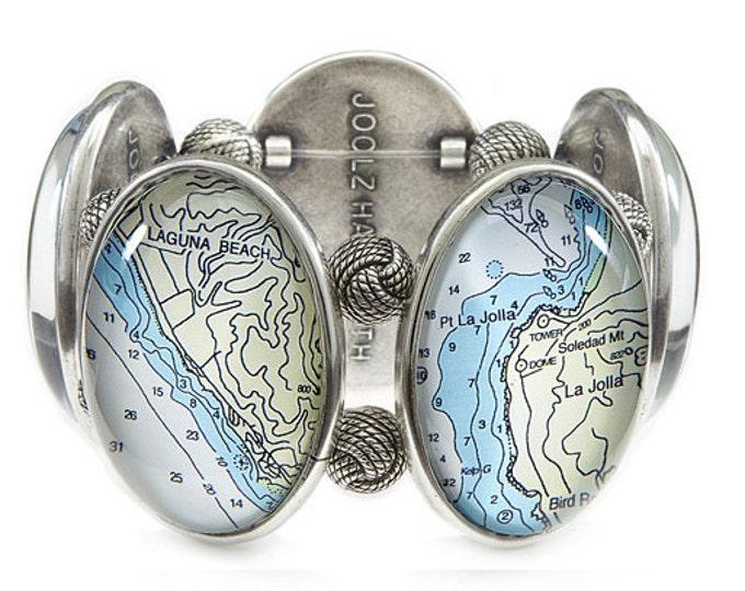 Orange County California Joolz Hayworth Map Bracelet