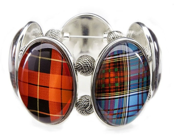 Tartan Mix & Mingle Five-Cameo Stretch Bracelet