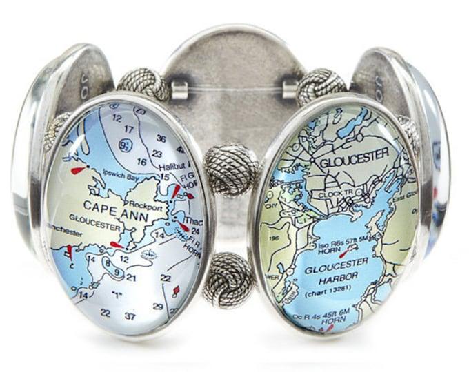 Gloucester Map Bracelet from Joolz Hayworth