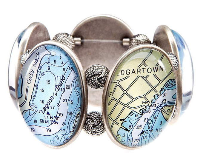 Marthas Vineyard Map Joolz Hayworth Stretch Bracelet