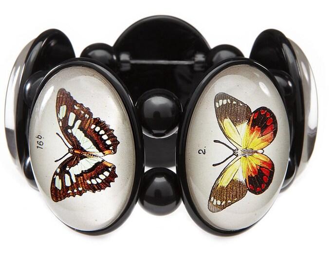 Butterflies Five Cameo Stretch Bracelet