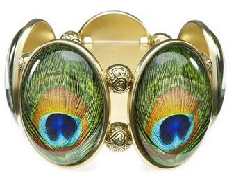 Peacock Stretch Bracelet From Joolz Hayworth
